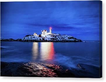 Nubble Lighthouse Canvas Print - Cape Neddick Lighthouse by Robert Clifford