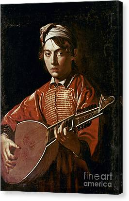 1596 Canvas Print - Caravaggio: Luteplayer by Granger