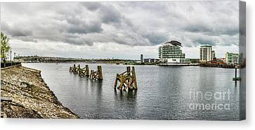 Cardiff Bay Panorama Canvas Print by Steve Purnell