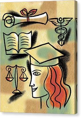 Career Path Canvas Print by Leon Zernitsky