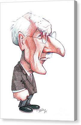 Carl Jung, Caricature Canvas Print by Gary Brown