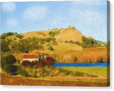Carneros Valley Canvas Print by Mick Burkey