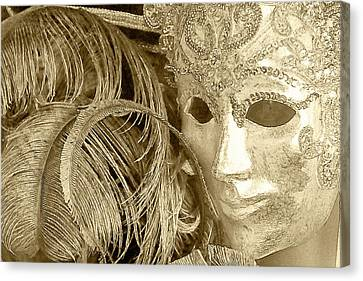 Carnival Mask Canvas Print by John Hix
