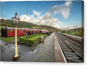 Canvas Print featuring the photograph Carrog Railway Station by Adrian Evans