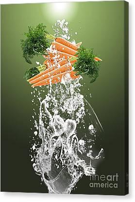 Carrot Canvas Print - Carrot Splash by Marvin Blaine