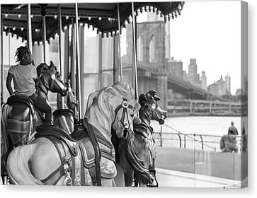 Carrousel Nyc Canvas Print