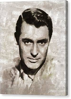 Cary Grant, Vintage Hollywood Actor Canvas Print by Mary Bassett