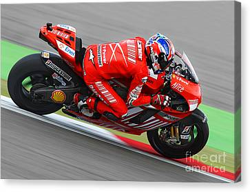 Casey Stoner Canvas Print by Henk Meijer Photography