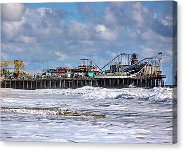 Casino Pier, Seaside Heights Nj Canvas Print by Bob Cuthbert