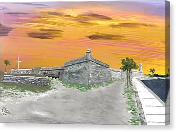 Spanish Fort Canvas Print - Castillo De San Marcos by Dennis Tomlin