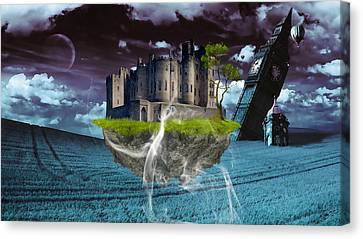 Castle In The Sky Art Canvas Print by Marvin Blaine