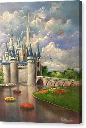 Castle Of Dreams Canvas Print by Randy Burns