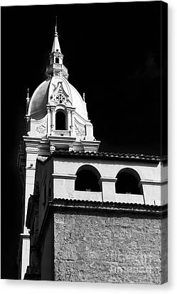 Cathedral In Cartagena Canvas Print by John Rizzuto