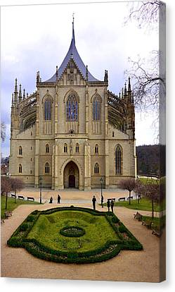 Cathedral Of St. Barbara Canvas Print by Two Small Potatoes