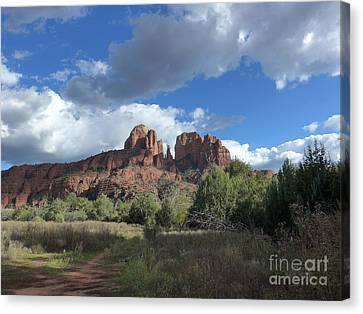 Cathedral Rock Sedona Canvas Print by Marlene Rose Besso