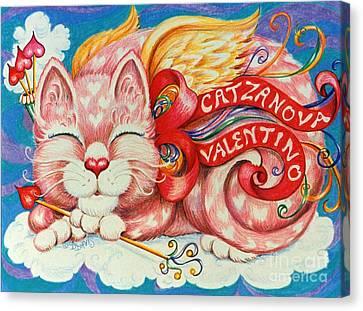 Catzanova Valentino Canvas Print by Dee Davis