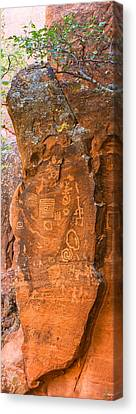 Verde Valley Canvas Print - Cave Painting, V-bar-v Heritage Site by Panoramic Images