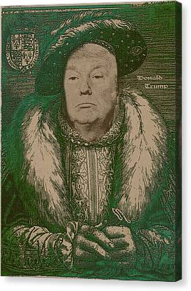Portraits Canvas Print - Celebrity Etchings - Donald Trump by Serge Averbukh