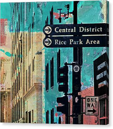 Canvas Print featuring the photograph Central District by Susan Stone