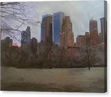 Central Park  Canvas Print by Anita Burgermeister