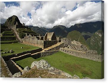 Central Plaza At Machu Picchu Canvas Print by Aidan Moran