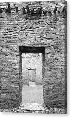 Chaco Canyon Doorways 1 Canvas Print by Carl Amoth
