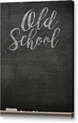 Chalk Board Canvas Print by Allan Swart