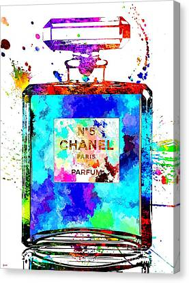 Chanel No. 5 Grunge Canvas Print
