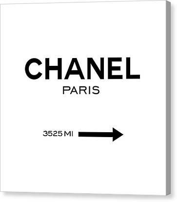Designer Canvas Print - Chanel Paris by Tres Chic