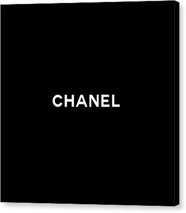 White Canvas Print - Chanel by Tres Chic