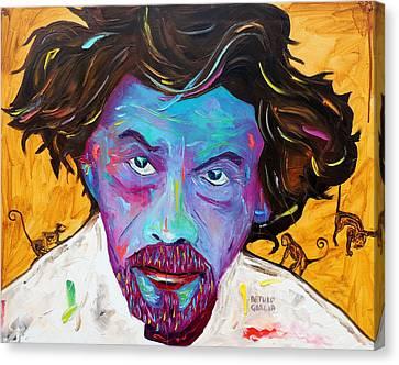 Changos Mirones Canvas Print by Arturo Garcia