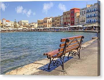 Chania - Crete Canvas Print by Joana Kruse