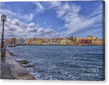 Chania On Crete In Greece Canvas Print by Patricia Hofmeester