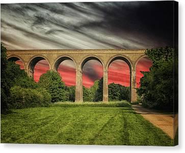 Chapel Viaduct Essex Uk Canvas Print by Martin Newman