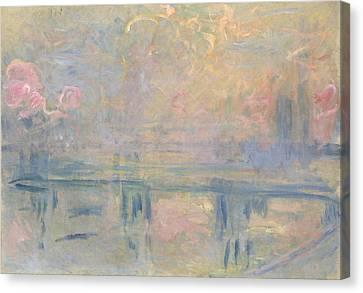 Fog Mist Canvas Print - Charing Cross Bridge by Claude Monet