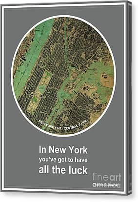 Charles Bukowski Quote Of New York City Canvas Print
