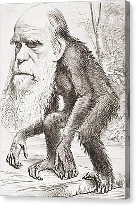 Charles Darwin 1809 - 1882. English Canvas Print by Vintage Design Pics