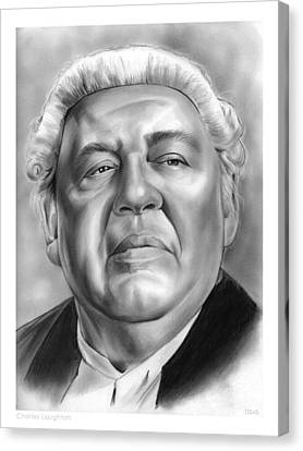 Charles Laughton Canvas Print by Greg Joens
