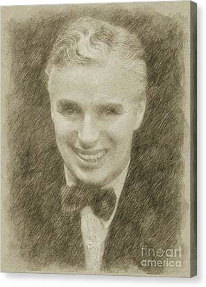 Charlie Chaplin Hollywood Legend Canvas Print by Frank Falcon