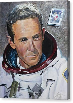 Charlie Duke Canvas Print by Simon Kregar