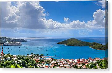 Charlotte Amalie St. Thomas Canvas Print by Keith Allen