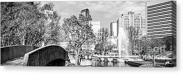 Charlotte Canvas Print - Charlotte Panorama Black And White Photo by Paul Velgos