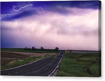 Chasing The Storm - County Rd 95 And Highway 52 - Colorado Canvas Print by James BO  Insogna