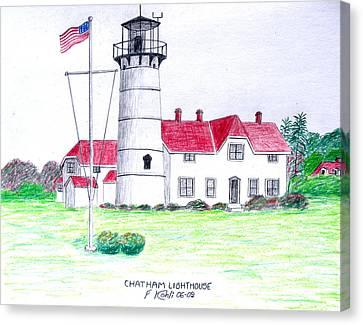 Chatham Lighthouse  Canvas Print by Frederic Kohli