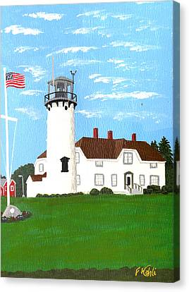 Chatham Lighthouse Painting Canvas Print by Frederic Kohli