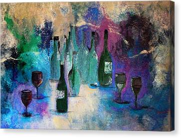 Canvas Print featuring the painting Cheers by Lisa Kaiser