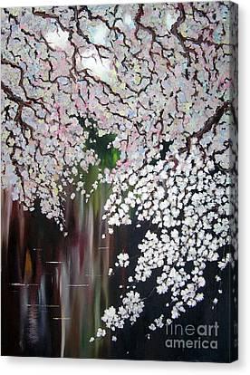 Cherry Blossom Canvas Print by Irina Davis