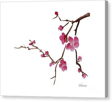 Cherry Blossoms 1d Canvas Print by McKenzie Leopold