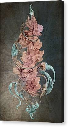 Cherry Blossoms On Blue Canvas Print by Irina Effa