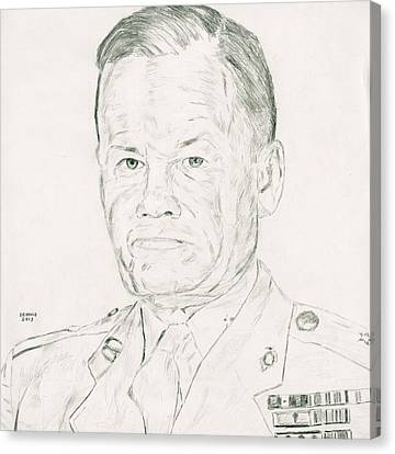 Chesty Puller Canvas Print - Chesty Puller by Dennis Larson